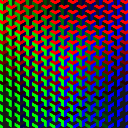 RGB Pattern II (2015). Op Art by Dennis Smit