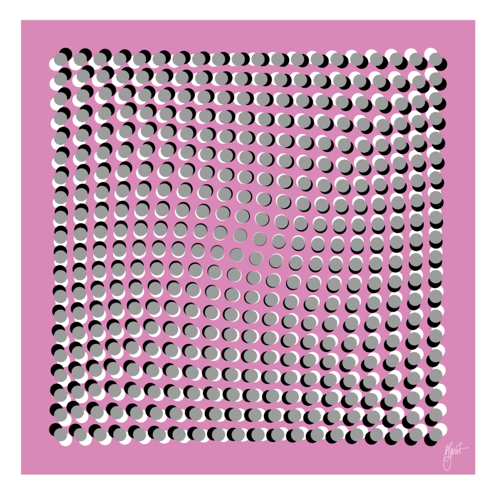 Spin the Circle I - Op Art created by Dennis Smit