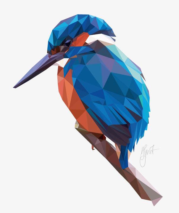 Kingfisher. Digital Art by Dennis Smit