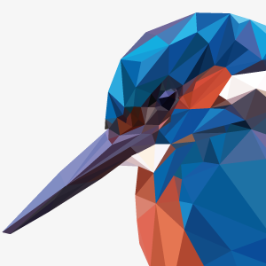 Low Poly Kingfisher, by Dennis Smit. www.schmitzl.nl